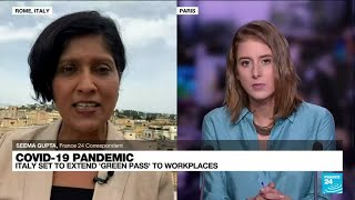 Italy to make Covid-19 'Green Pass' mandatory for workers • FRANCE 24 English