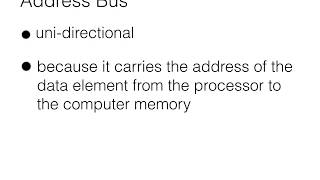 Directions of Address, Data and Control Buses