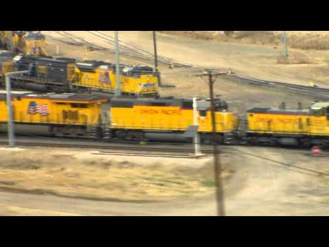 Rail Fanning the Union Pacific Bailey Yard from the Golden Spike Tower, North Platte Nebraska