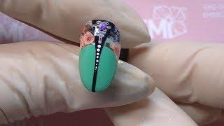 Мастер-класс дизайн ногтей. Зеленый маникюр