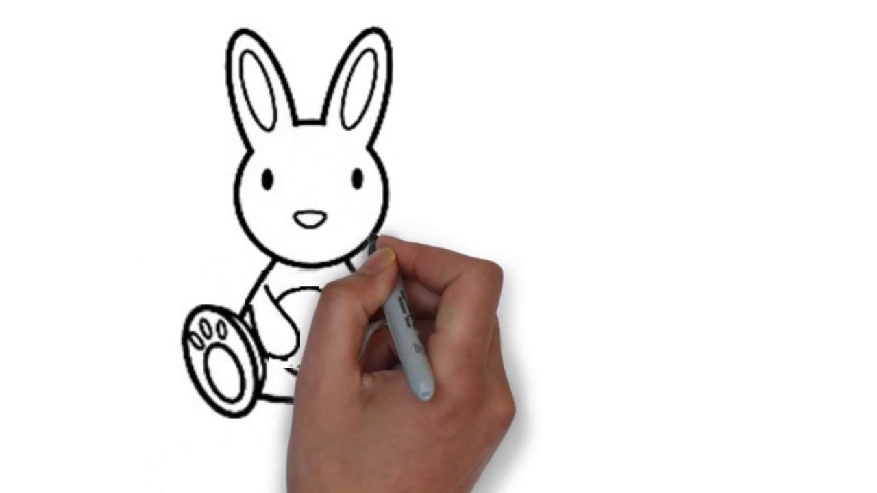 Cara Mudah Menggambar Kelinci Atau Rabbit Youtube