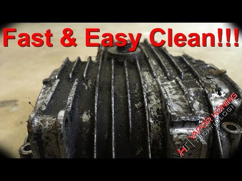 Fast Easy Clean For Oil Pan, Hydro Blast Max Vs. Oil Pan, Parts Washer