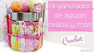 Organizador de ganchillo para agujas, ovillos y más. Crochet organizer for hooks, markers....