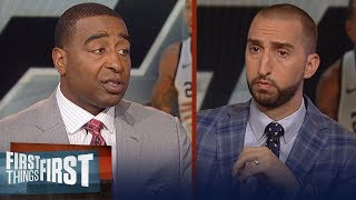 Nick Wright on how Kawhi would make the 76ers contenders this season | NBA | FIRST THINGS FIRST