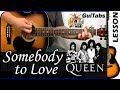 How to play Somebody To Love 😧💖 - Queen / Guitar Tutorial 🎸