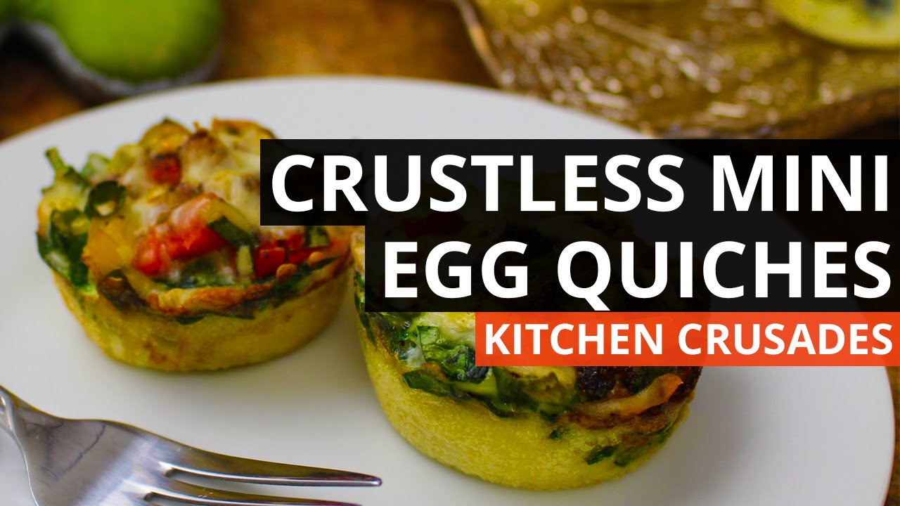 Crustless Mini Egg Quiches - YouTube