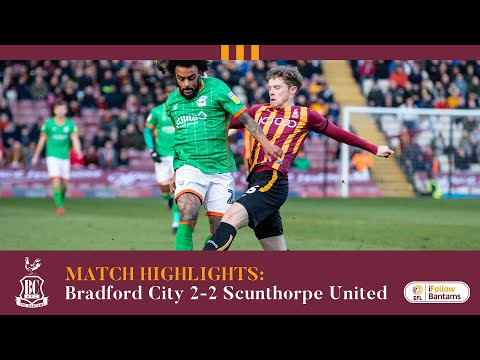 MATCH HIGHLIGHTS: Bradford City 2-2 Scunthorpe United