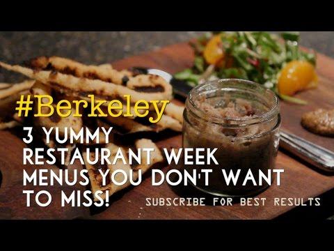 #Berkeley: 3 Yummy Restaurant Week Menus!