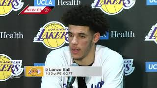 Lonzo Ball reacts to debut in first NBA regular-season game for Lakers | ESPN