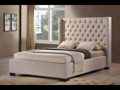 Leather Tufted Wingback Bed Youtube