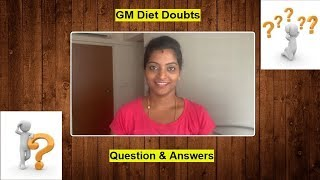GM Diet Doubts in Tamil - Questions and Answers #UsefulTips #Mustwatch #Motivational