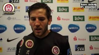 Niklas Dams nach dem Spiel SVWW vs. Kieler SV Holstein