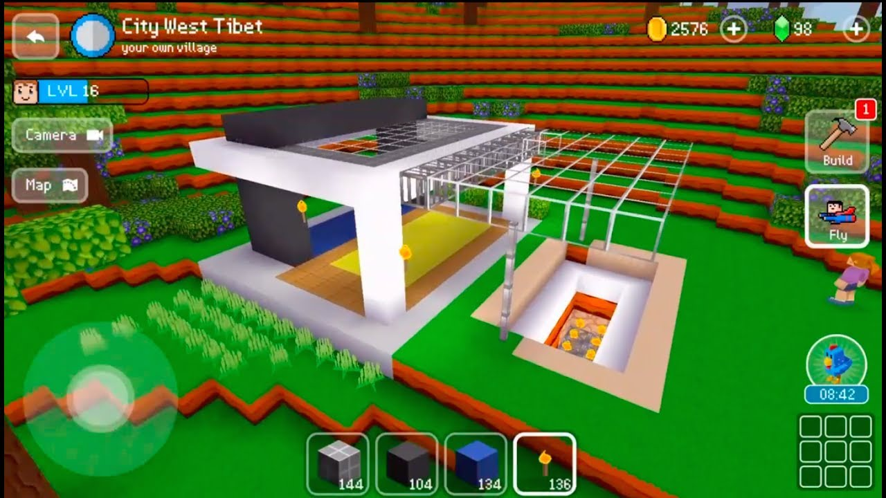 Block craft 3d mobile gameplay small modern house time for Block craft 3d online play