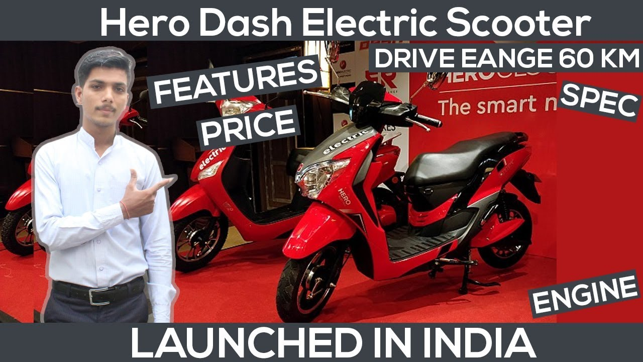 Hero Dash Electric Scooter Launched In India   Price From