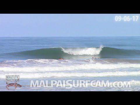 malpaisurfcam daily video, 09-06-17 Surfing Santa Teresa