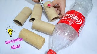 How To Recycle Empty Tissue Roll and Plastic Bottle|Best Reuse Idea With Tissue Roll
