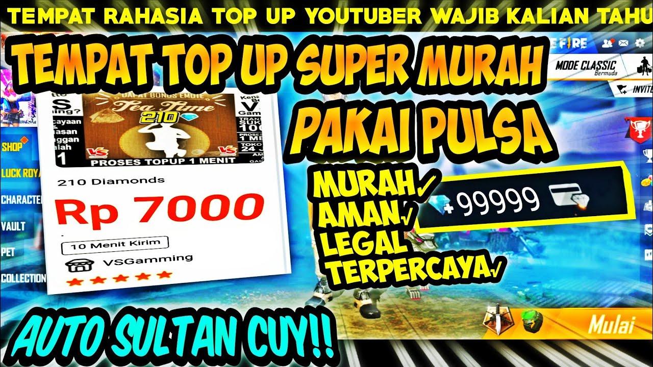 210 DM Rp 7.000❗BISA PAKAI PULSA | TEMPAT TOP UP MURAH FREE FIRE LEGAL/AMAN 2020