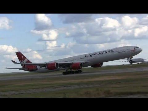Virgin Atlantic Airbus A340-642 Takeoff