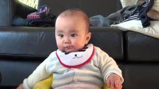 赤ちゃんのビックリ衝撃トマト かわいいすっぱい食事 面白い ショック baby shock impact 動画