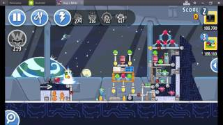 Angry Birds Friends Year In Space Tournament ● LEVEL 3 ● 194 K HD ● Week 199 ●  POWER UP