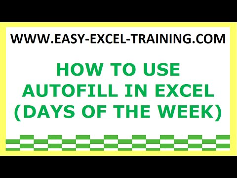 Number Names Worksheets days of the week exercises : Task 24 - How to use AutoFill in Excel (days of the week ...