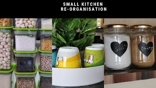 How to Organise a Small Kitchen - in Hindi | Indian small Kitchen tour