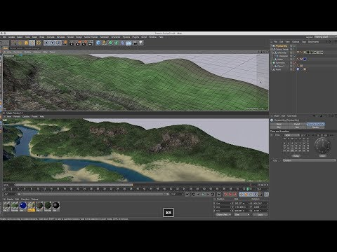 Cinema 4D Tutorial - How to Create a Space Colony 07 Landscape Textures