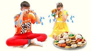 настя артем и мия готовят сладости для щенка марти nastya artem mia
