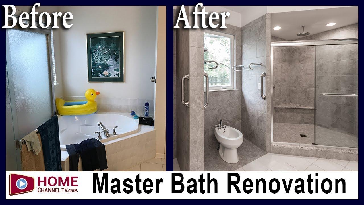 Master Bath Remodel Before After Renovation Bathroom Remodeling Youtube