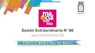 Concejo Municipal de Macul N° 86 / 15-11-2018