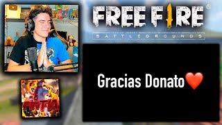 ESTE JUGADOR DE FREE FIRE QUE TIENE 15 AÑOS ME DEDICO UN VIDEO ESPECIAL *emotivo* | TheDonato