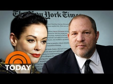 Actress Rose McGowan Details Rape Allegation Against Harvey Weinstein  TODAY