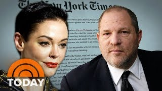 Actress Rose McGowan Details Rape Allegation Against Harvey Weinstein | TODAY thumbnail
