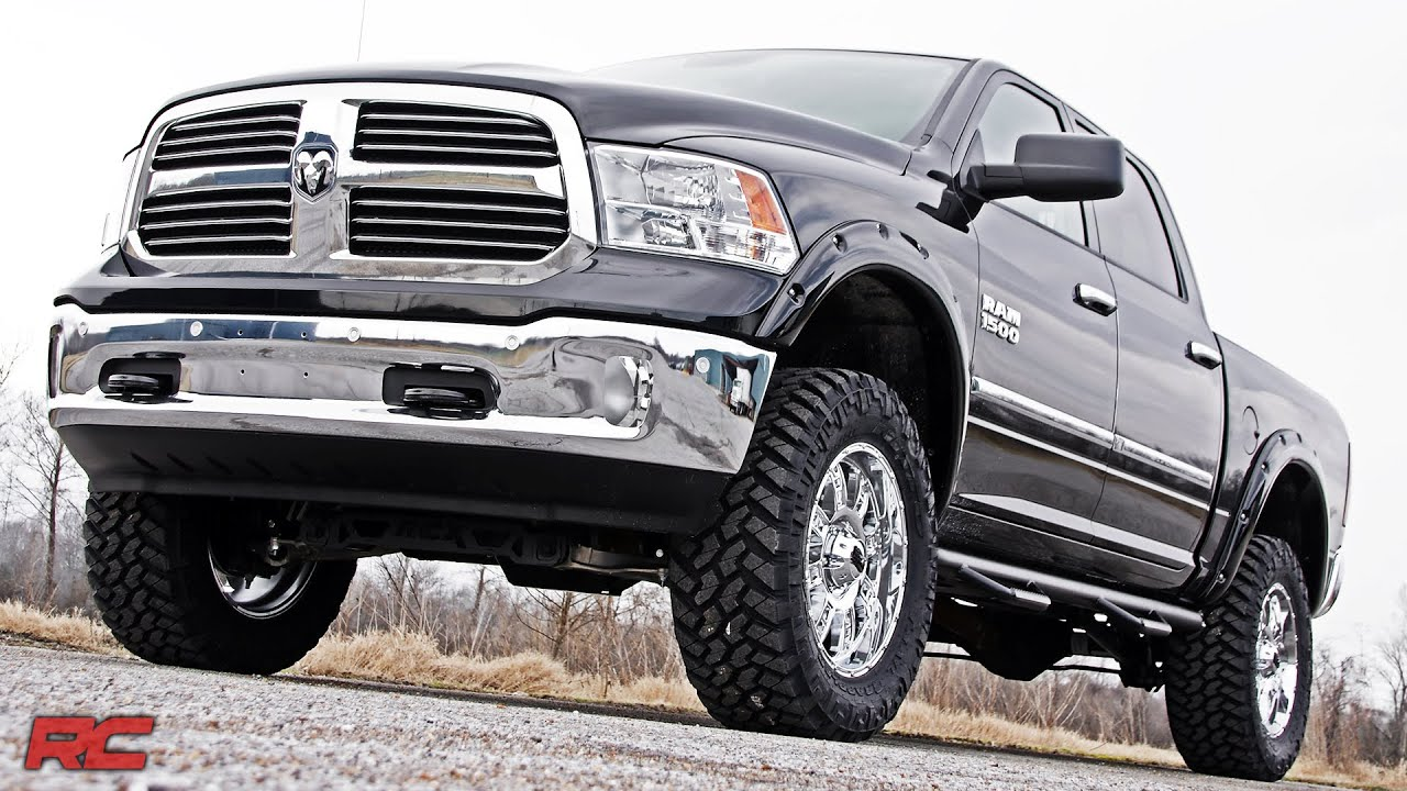 2009 2017 ram 1500 fender flares with rivets by rough country youtube