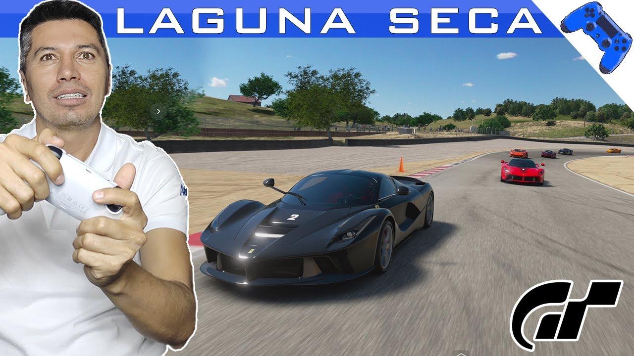 Laguna Seca con La Ferrari   Gameplay Gran turismo Sport