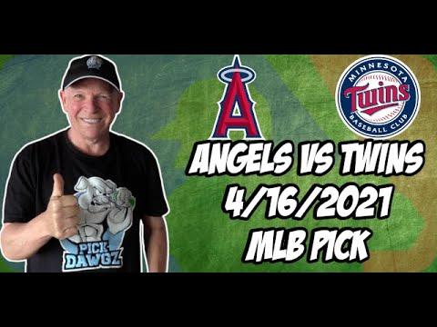 Los Angeles Angels vs Minnesota Twins 4/16/21 MLB Pick and Prediction MLB Tips Betting Pick