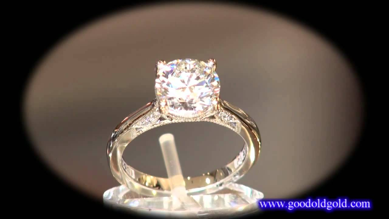Tacori Engagement Ring 2638 With 1 53ct I Si1 H Amp A Youtube