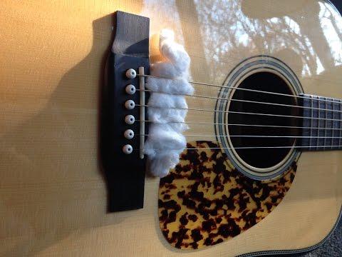practice-guitar-quietly-with-cotton-balls-تمرین-گیتار-با-پنبه-جهت-کاهش-صدا