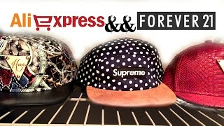 Men 39 s Haul AliExpress Forever 21 Accessories Supreme Strapbacks dyrandoms
