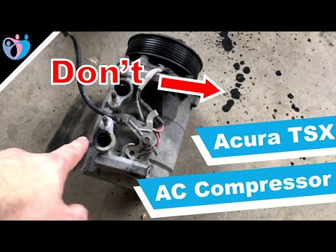 How to replace AC compressor on Acura TSX 2005 DIY Tutorial
