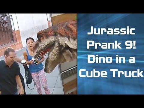 Jurassic Prank 9 - Dinosaur in a Cube Truck w/ Mediocre Films!