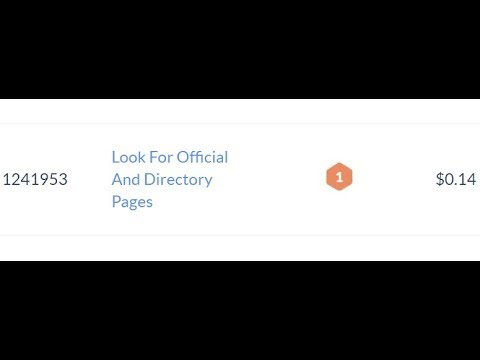 1241953  Look For Official And Directory Pages   $0.14