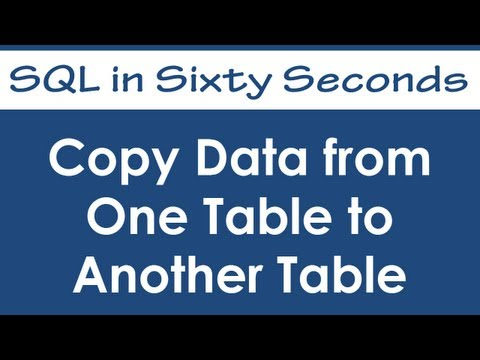 SQL SERVER - Copy Data from One Table to Another Table - SQL in Sixty Seconds #031 - Video hqdefault