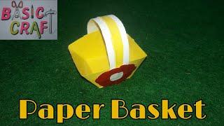 How To Make A Paper Basket | Paper Basket Making
