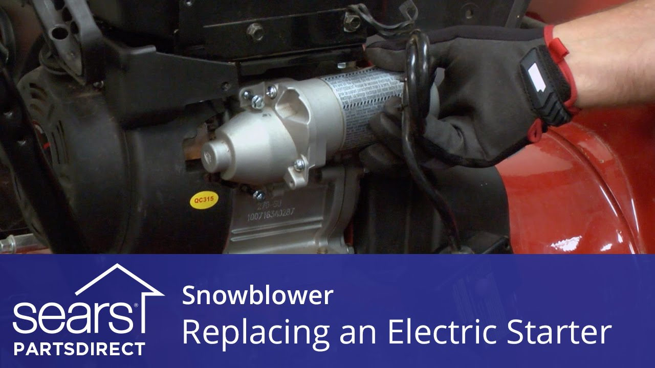 Replacing An Electric Starter On A Snowblower Youtube Craftsman Riding Mower Wiring Diagram Sears Partsdirect