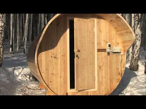 видео: Круглая баня зимой.
