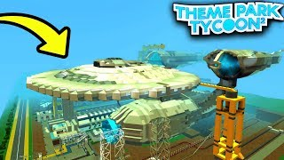 FUTURISTIC SPACESHIP in Theme Park Tycoon 2!! - Roblox