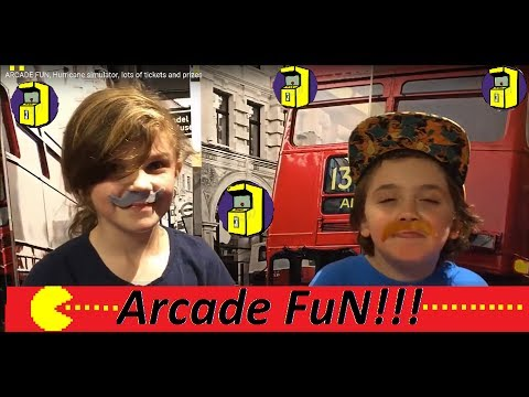 ARCADE FUN, Hurricane simulator, lots of tickets and prizes