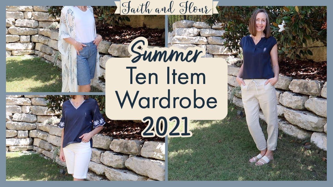Ten Item Wardrobe Summer 2021 | Capsule Wardrobe | Minimalist Wardrobe