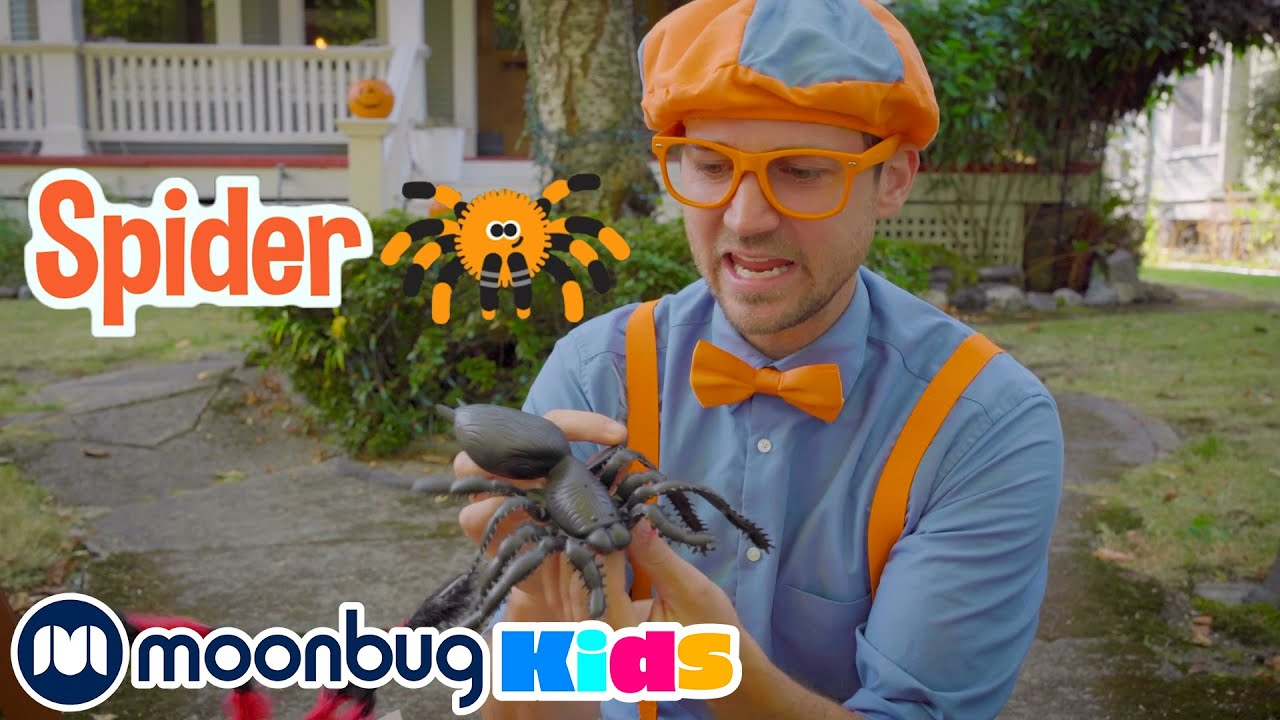 Blippi Decorates Spooky Halloween House - Blippi | Kids Cartoons & Nursery Rhymes | Moonbug Kids